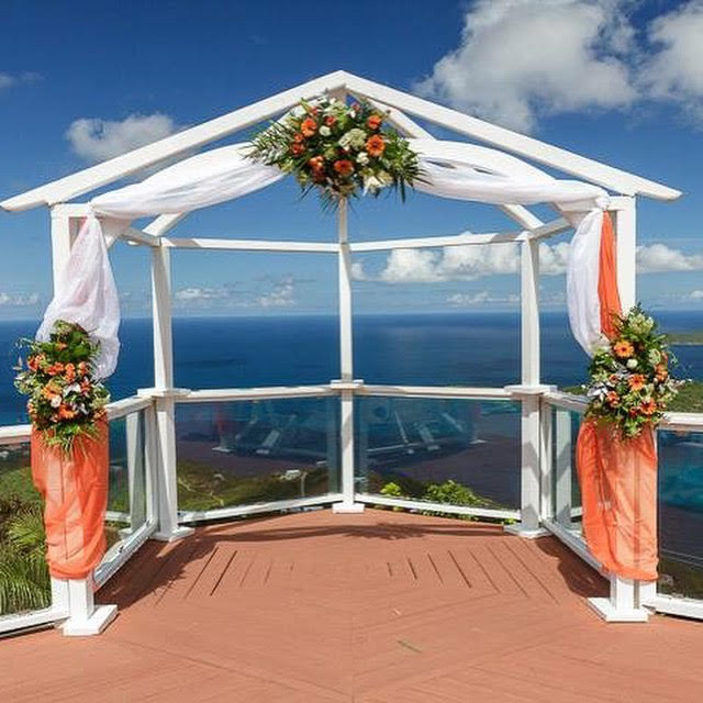 St peters wedding arches with fabric and flowers 10 st thomas st peters wedding arches with fabric and flowers 10 junglespirit Choice Image