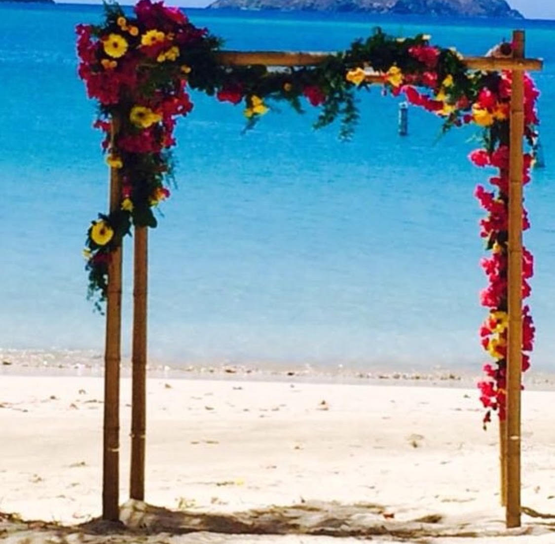 Wedding Arch with garland and fresh flower