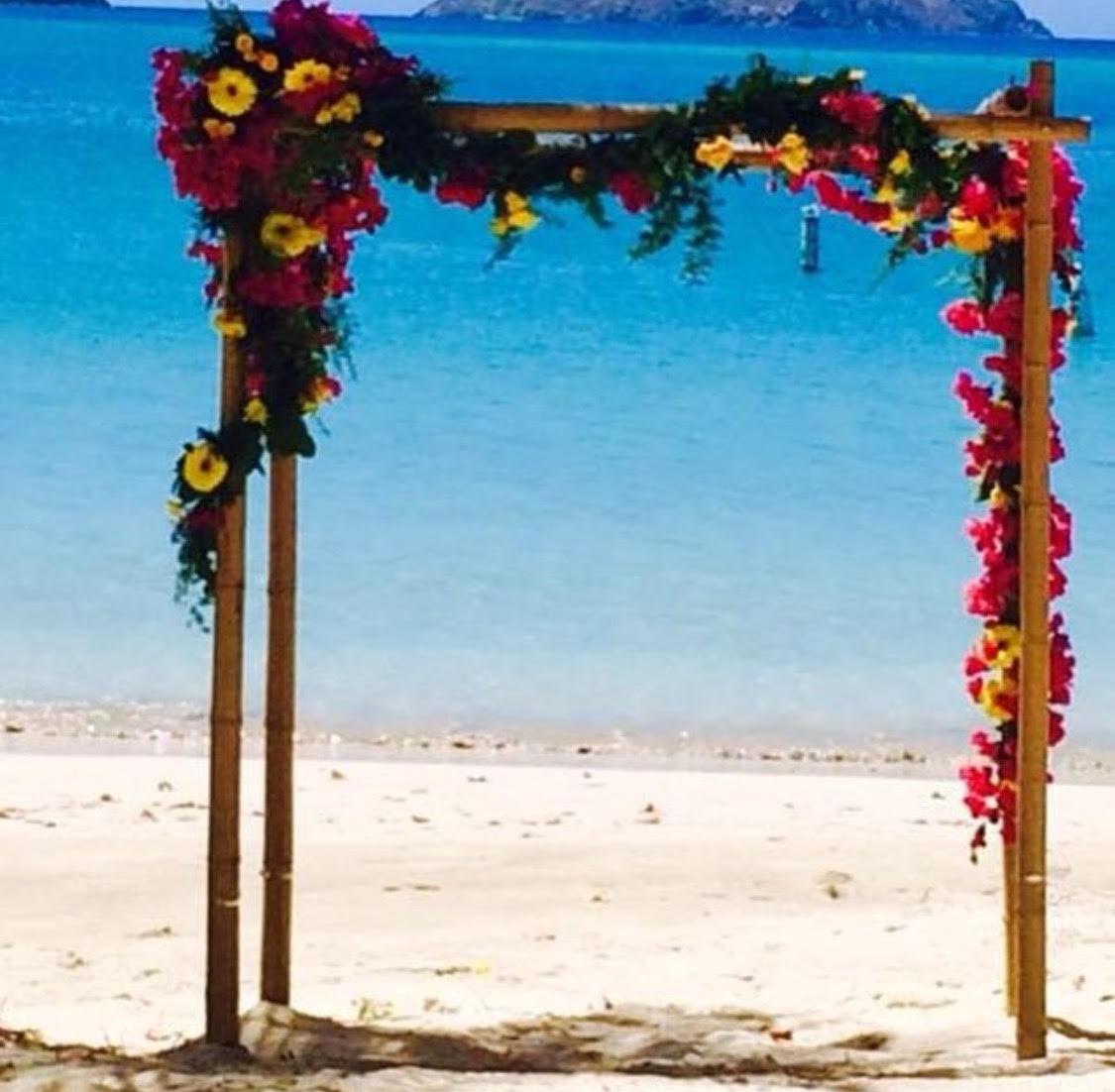 Wedding Arch with garland and fresh flower