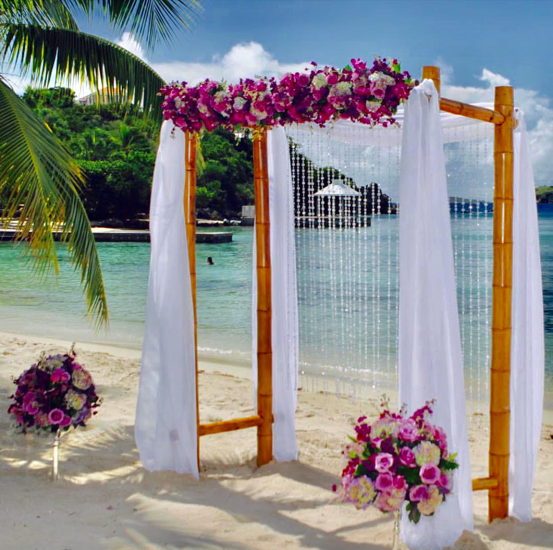 Wedding Arches with full floral in front 18