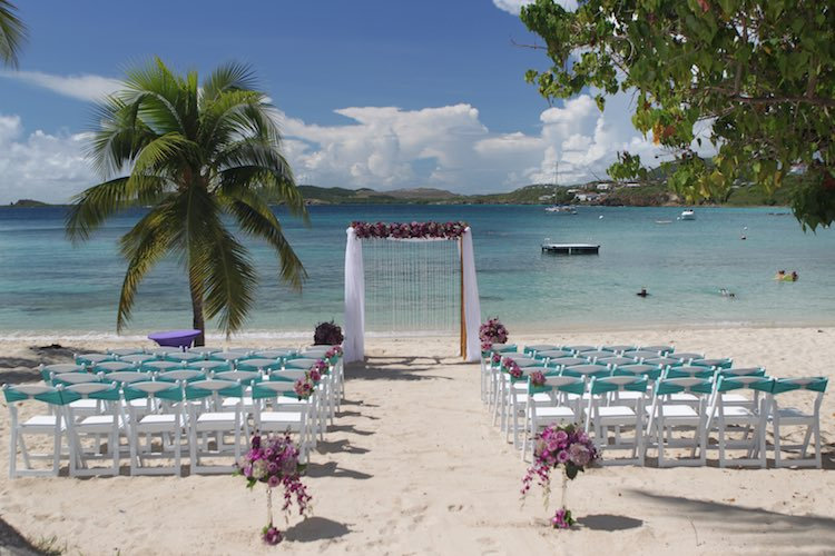 St Thomas Wedding Venue - Secret Harbor Beach