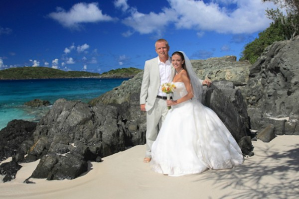 St Thomas Wedding Married Couple 1