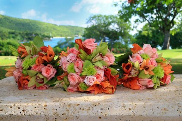 Wedding Floral Arrangement St Thomas