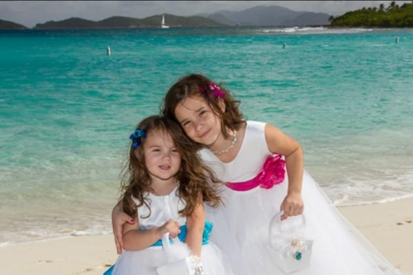 Beach Wedding Flower Girls