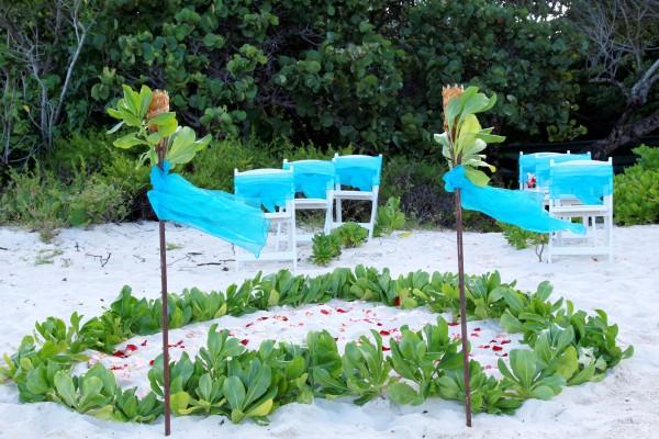 Beach Wedding St Thomas Setup