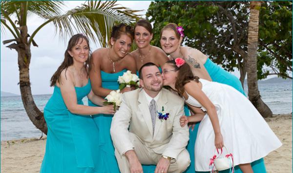 Family Beach Wedding St Thomas