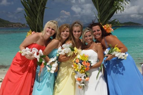 Flawless Wedding Beach Bridesmaids