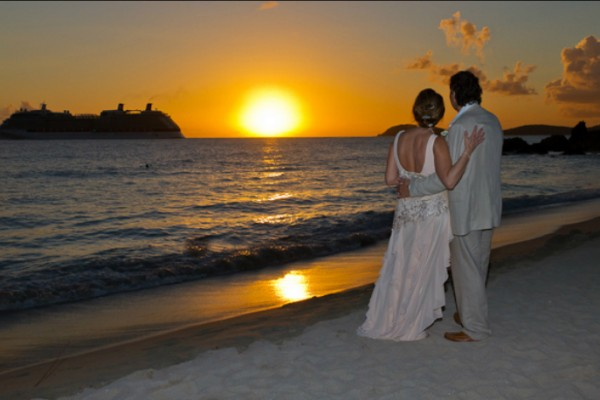 Lindberg Beach Cruise Ship Wedding St Thomas