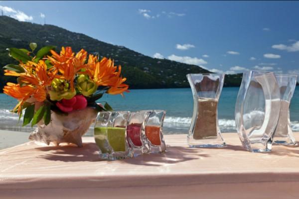 Tropical Sand Ceremony St Thomas Wedding