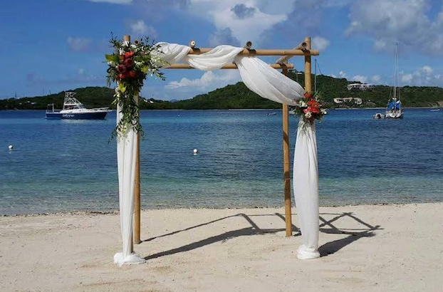 Wedding Arches Bamboo Arch With 2 Fl Arrangements To Match Your Color Scheme Starting At 525 00